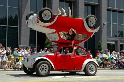 VW topsy-turvy bug