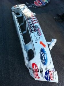 Justin Bell signed Ford Mustang front bumper
