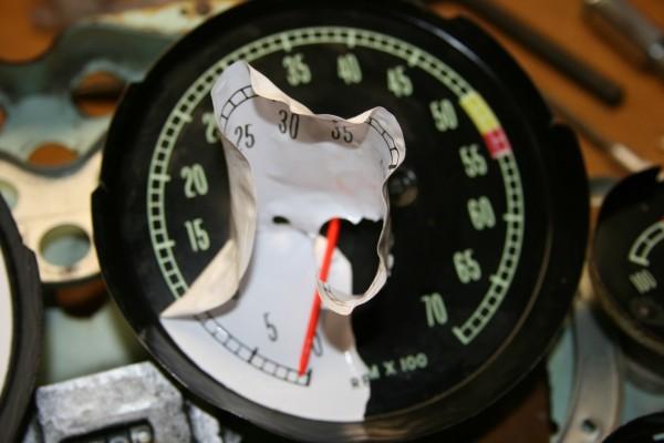 1963 Corvette white gauge conversion - FAIL
