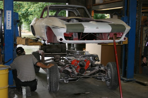 1963 Chevrolet Corvette body and chassis