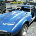 1977 chevrolet corvette blue