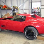 red 1969 Chevrolet Corvette