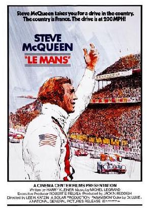 Steve McQueen Le Mans movie poster