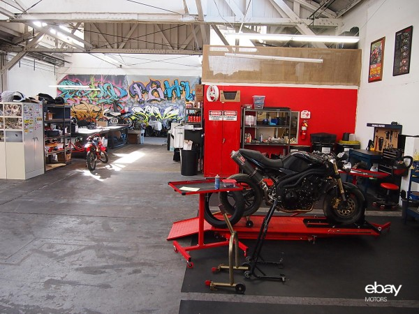 Moto Shop has 5 service bays fully outfitted with tools and lift