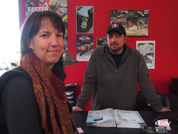 Aleks and Wilder, co-owners of Moto Shop