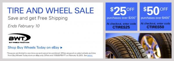 Ebay Tire And Wheel Coupon Feb 6 10 Ebay Motors Blog