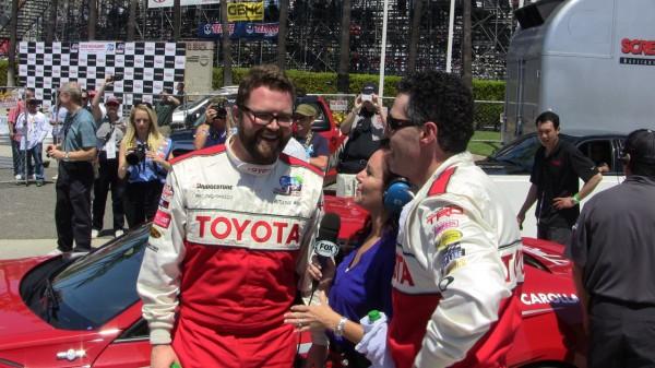 Rutledge Wood and Adam Carolla   Toyota Grand Prix Long Beach