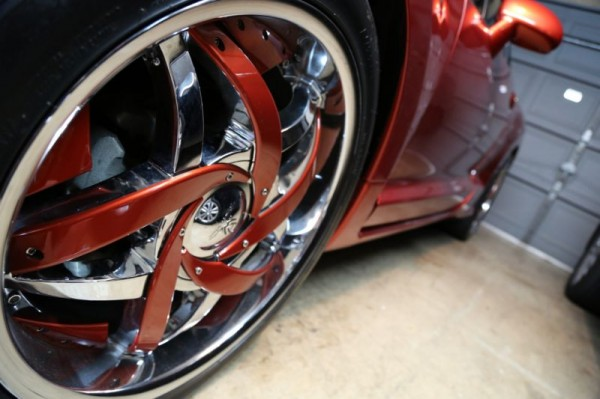 20 inch hypnotic c notes wheelset custom painted
