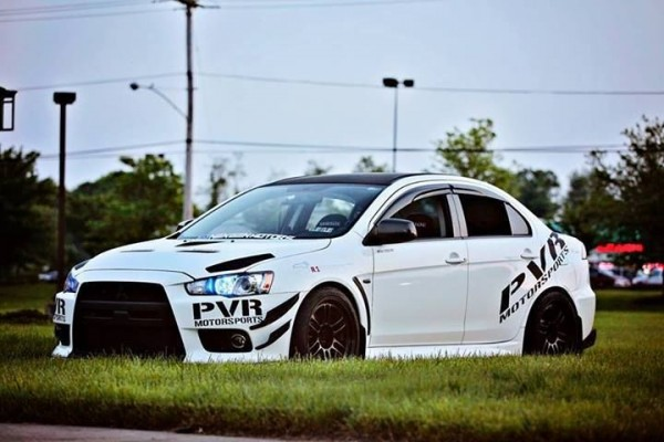 ebay garage pow mitsubishi lancer evo x white ninja. Black Bedroom Furniture Sets. Home Design Ideas