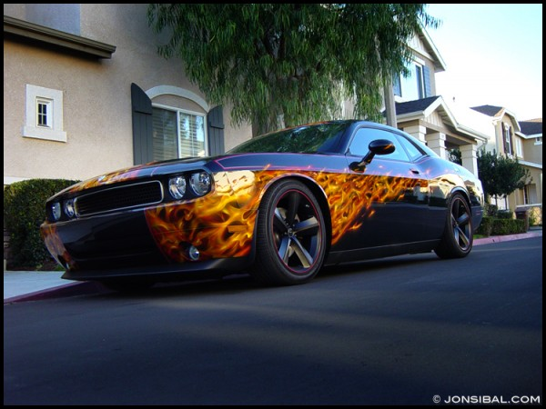 Beautiful 2009 Dodge Challenger True Fire Paint Scheme Designed By Jon Sib