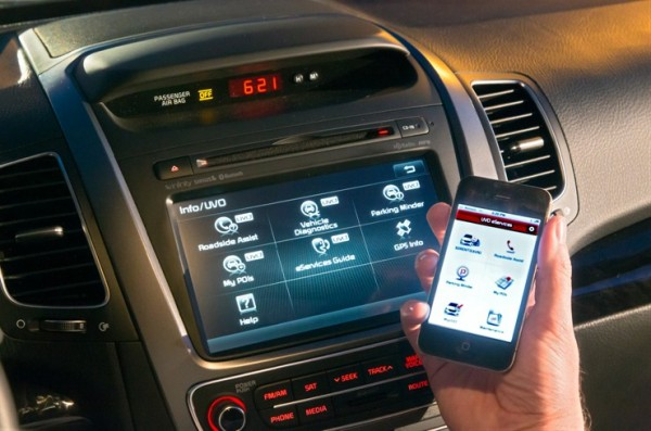 Kia Sorento Mobile App Screen