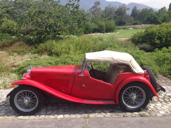 1949 mg tc exu roadster