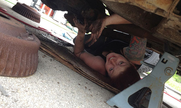 Tara Hurlin takes pride in helping to get old cars back on the road.