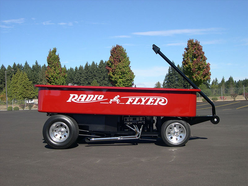 The Story Behind The Car Sized Drivable Radio Flyer Wagon