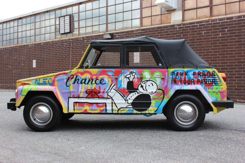 Listed on ebay vw thing art car painted by famous street artist thing 1 800 altavistaventures Image collections