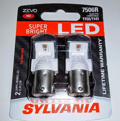 SYLVANIA ZEVO 1157 red LED bulb. The Lowdown on LED Tail Lamp Replacement   eBay Motors Blog