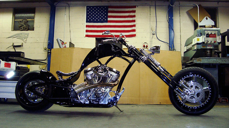 Hammer of the Gods, a custom-built chopper.