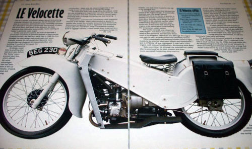 Ad for Velocette LE.