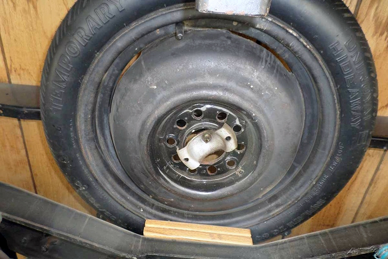 Where you gonna keep that spare tire we have some ideas ebay heres the underside of a restored 1935 ford flatbed packing a chevy 307 cubic inch v8 publicscrutiny Gallery