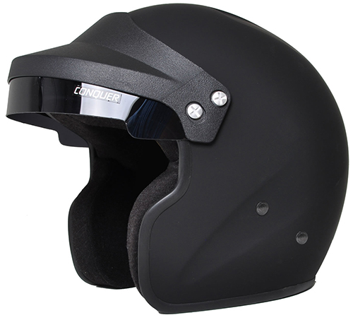 Open-face racing helmets can offer better visibility but less protection.